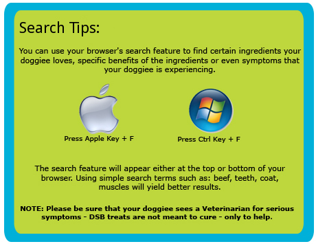 Search Tips: Mac - Apple Key + F / PC - Cntrl + F
